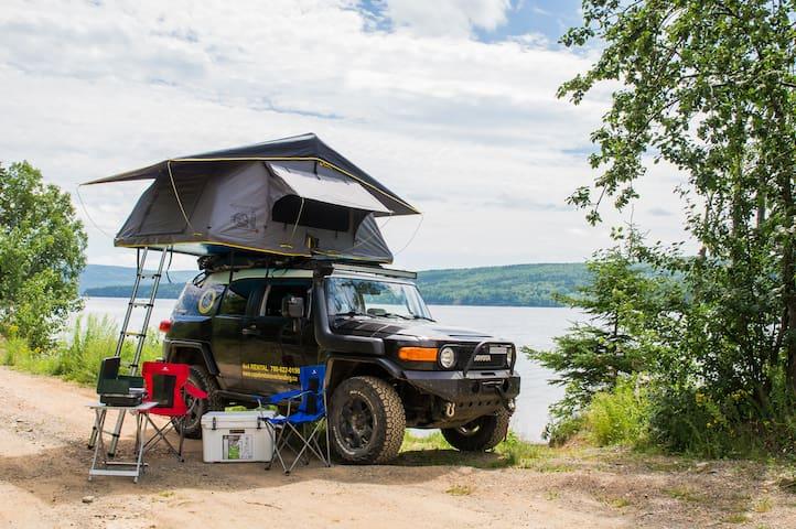 Cape Breton Overlanding - FJ Cruiser, Rooftop tent