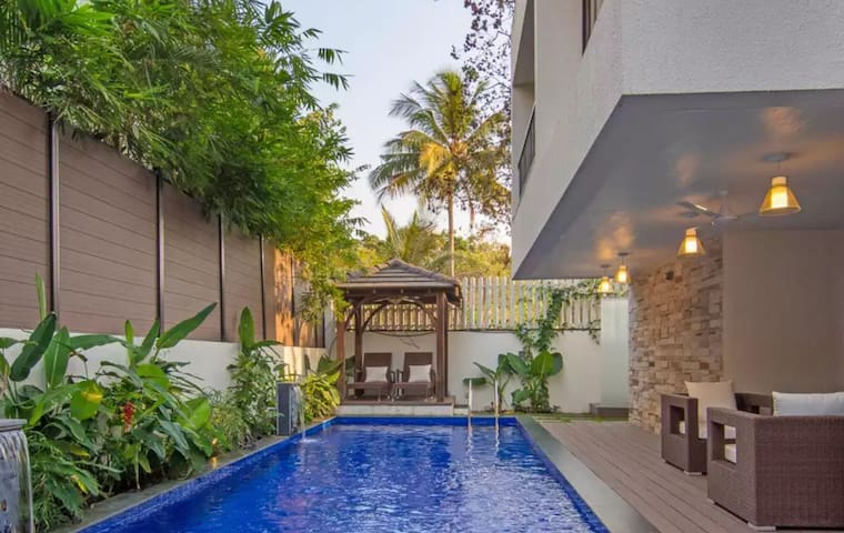Serendipity Private Pool Villa 3KM to Anjuna Beach