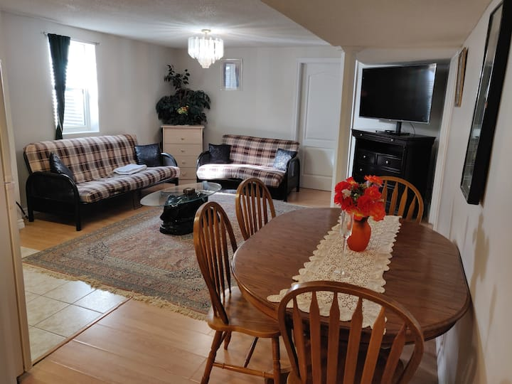 Basement Apartment - Beside Square One and Trails!