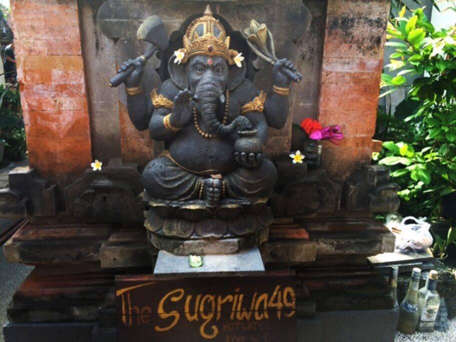 Ganesha welcomes you!