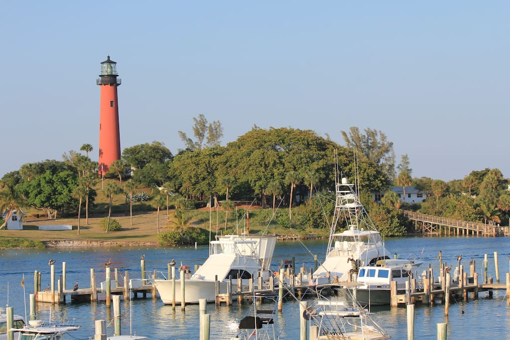 Jupiter Lighthouse- five minute drive from the property