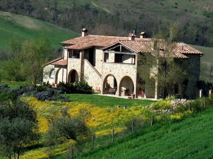 Tiglio,border betwen Umbria,Tuscany