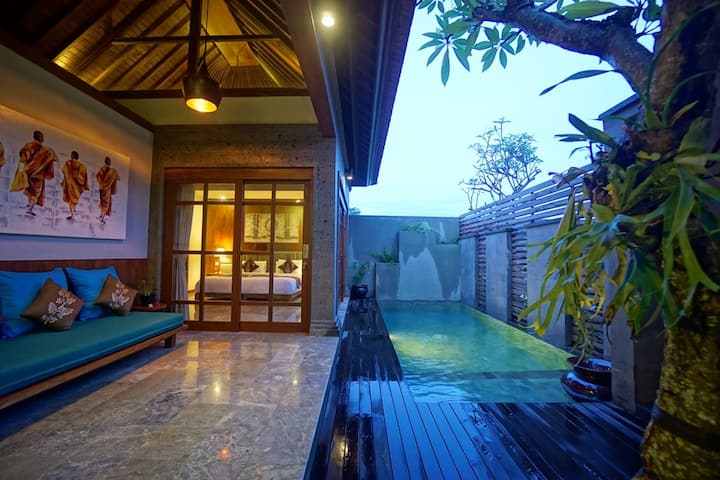 1BR Luxury Villa w/pool close to Ubud Center