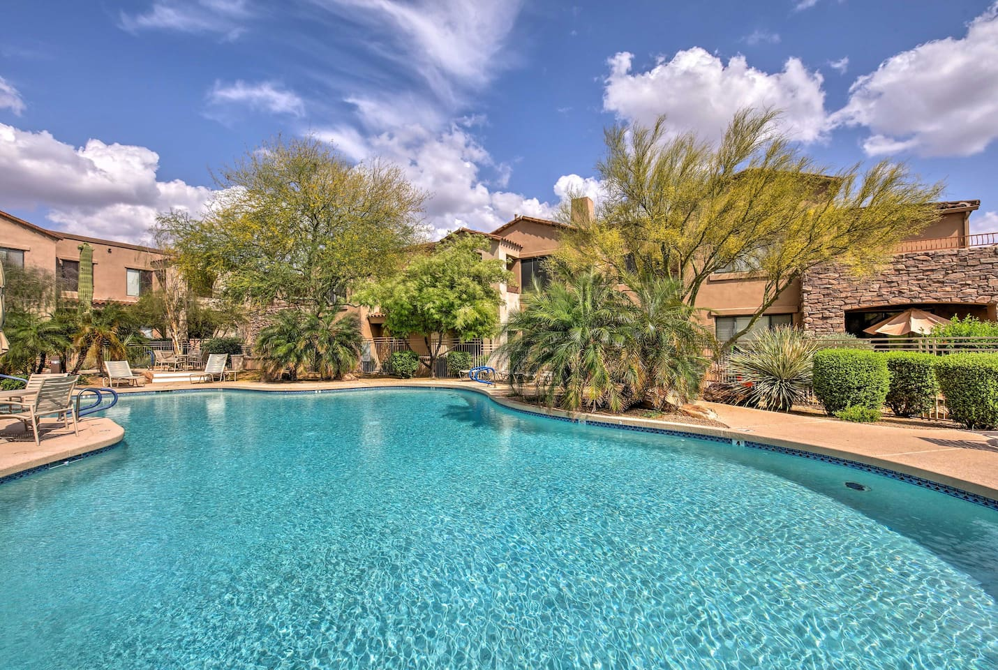 A quiet retreat to a desirable Scottsdale gated community awaits 4 lucky guests.