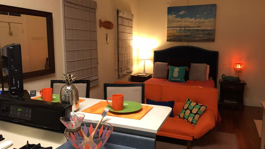 PINEAPPLE BY THE SEA!!!Sleeps 2, C2 - Galveston - Apartemen