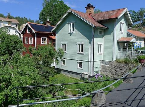 Small village  with wild nature around