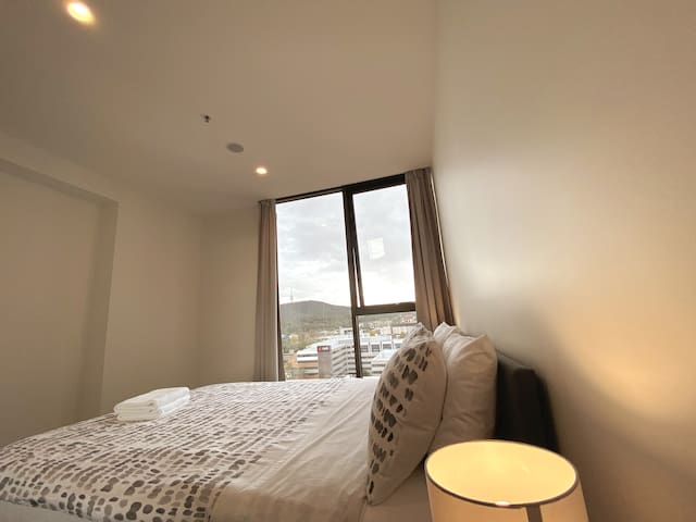 Main bedroom with award wining foam mattress