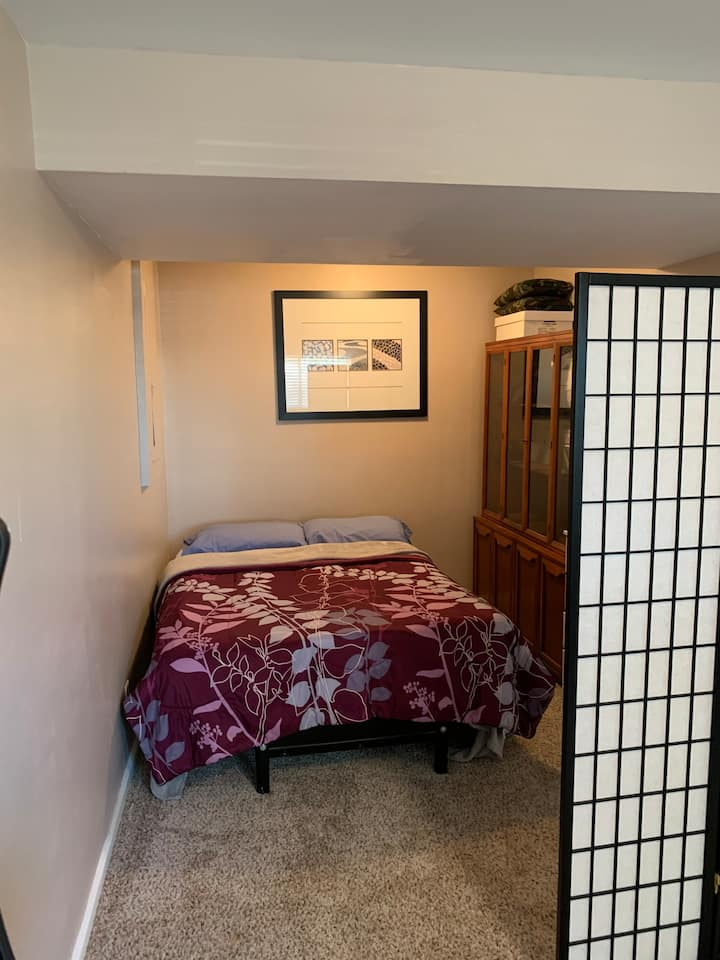 Private, finished  lower level .. budget friendly!