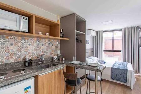 Apartamento 1 · 01-Kit/Studio Contêiner próx.ao aero e shopping.