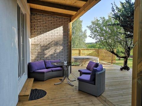 Villa with sauna & jacuzzi near forest & lake