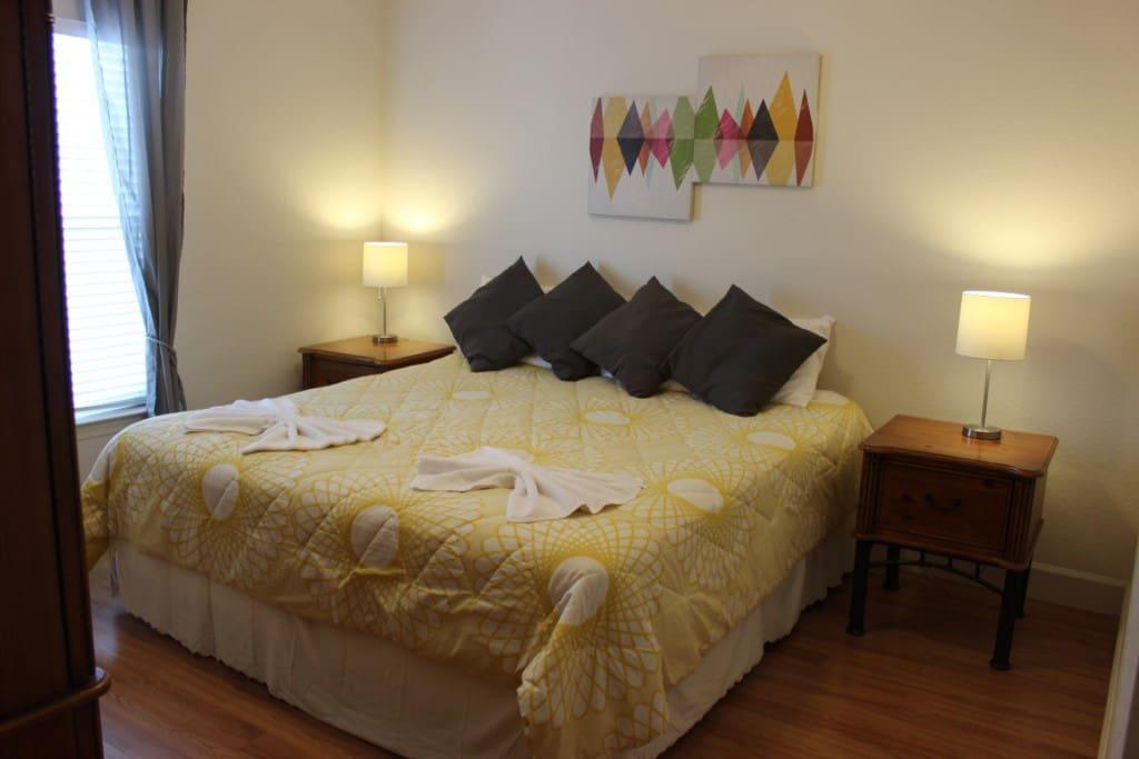 Bed, Bedroom, Furniture, Art, Modern Art
