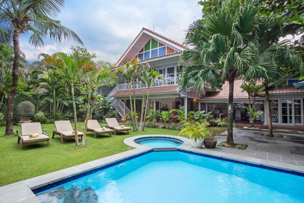 One of our two main pools (villa one)