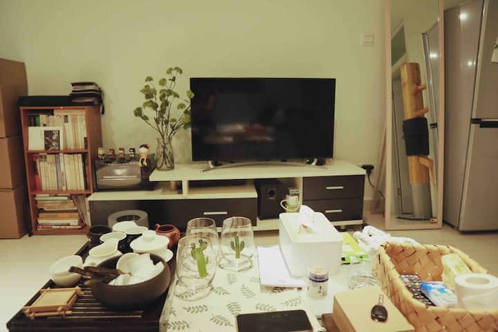 【小苗】南山/深大/桃园/清新公寓大床房/双地铁口/美食一条街