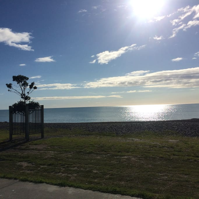 Along Marine Parade - a beautiful walk or bike ride into town.