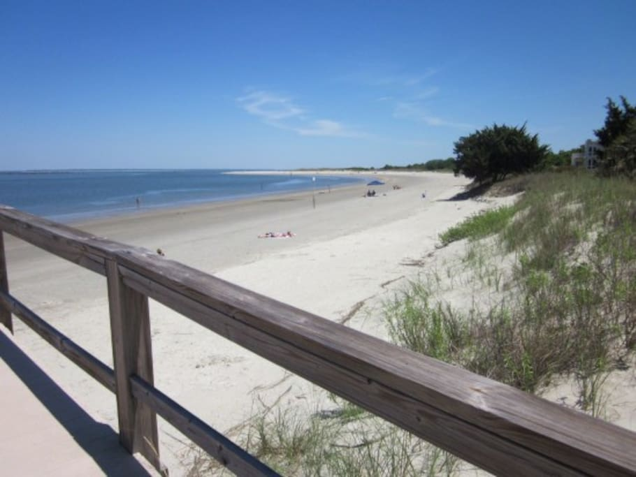 View from our private boardwalk over the dunes