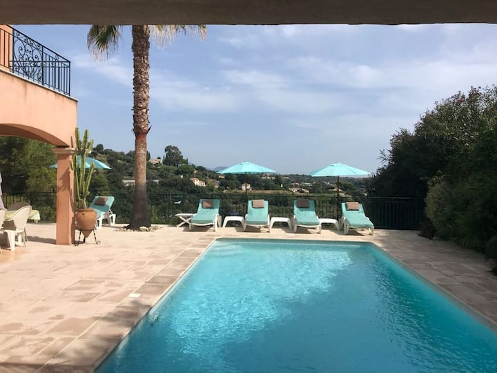 Villa with 4 bedrooms in Saint-Paul-de-Vence, with wonderful mountain view, private pool and enclosed garden - 6 km from the beach