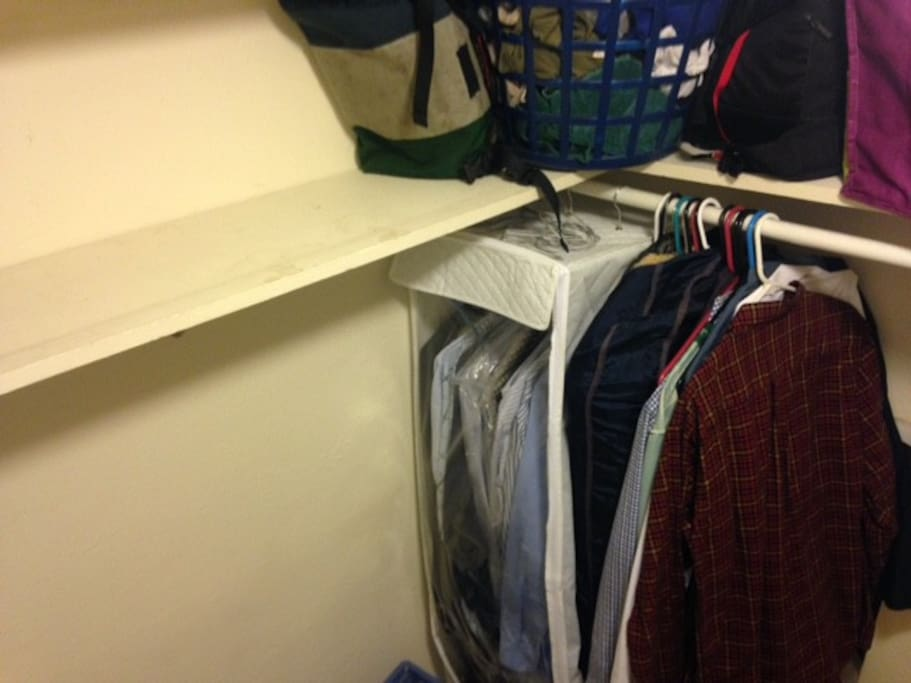 closet with my stuff in it