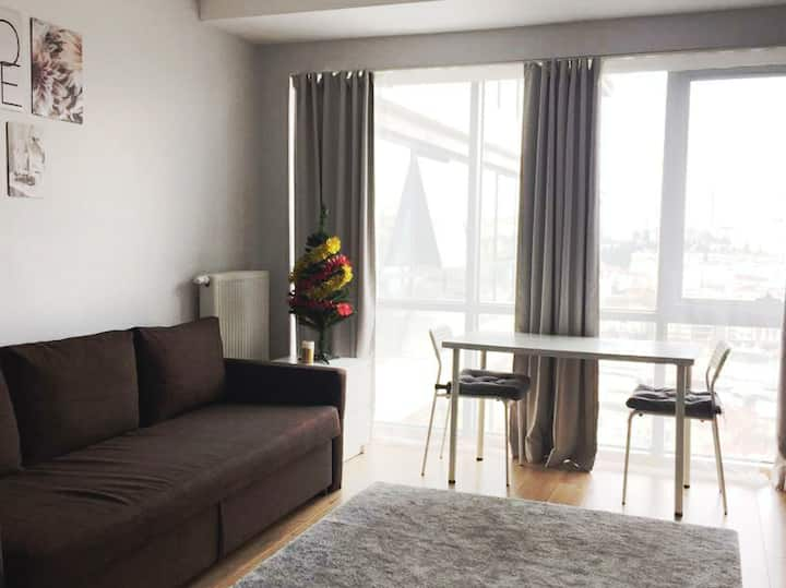 Studio apartment in new building in Kadikoy