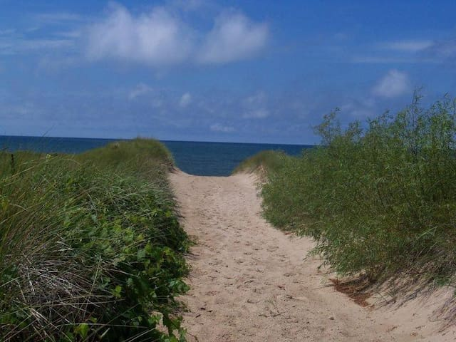 Serenity Beach has private Lake Michigan beach frontage!