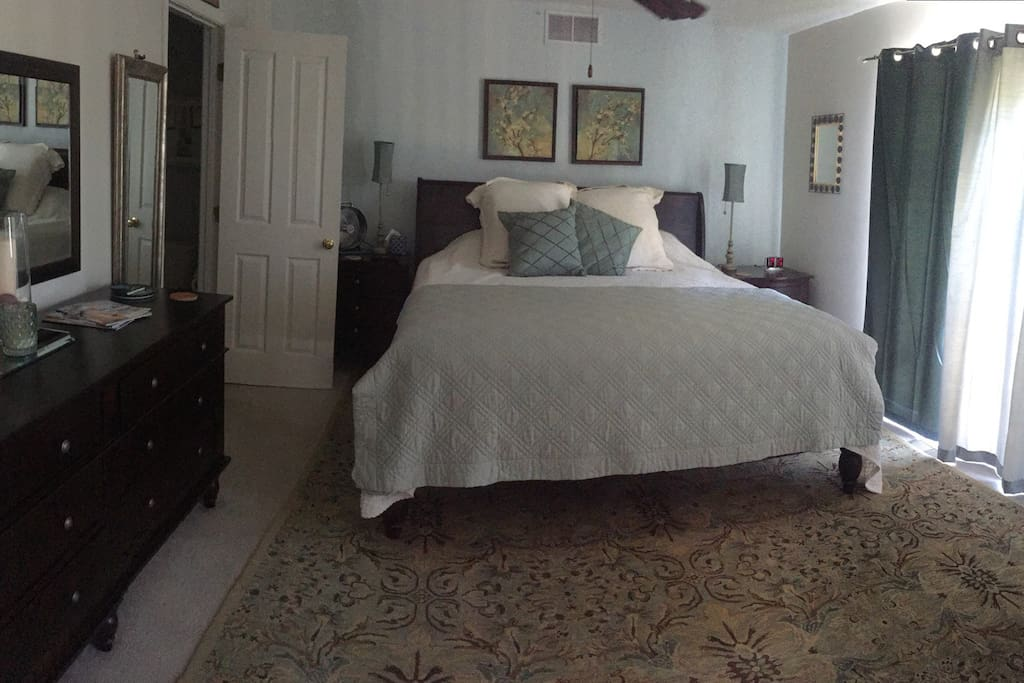 Large Bedroom with king size bed & attached  Bathroom