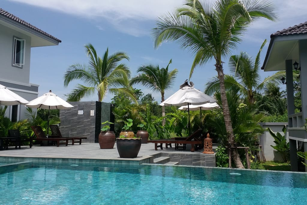The pool is 15 m long and great for swimming lengths or just relaxing