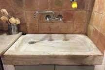 2 Solid marble sinks