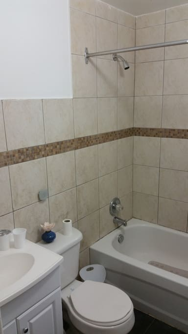 Our bathroom. Sorry for the tilt pic.