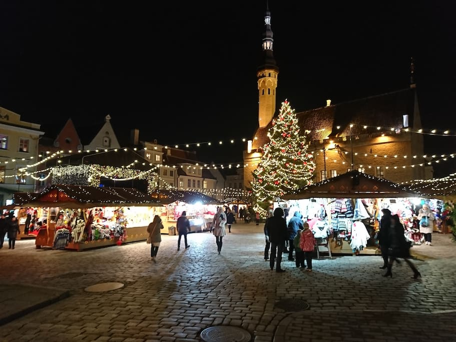 Town Hall Square - 2 minutes walk from flat - the most beautiful Christmas market