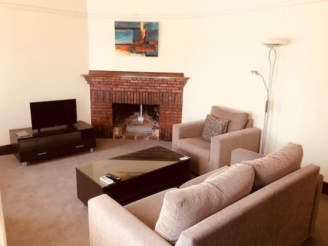 Spacious Apartment, High Ceilings