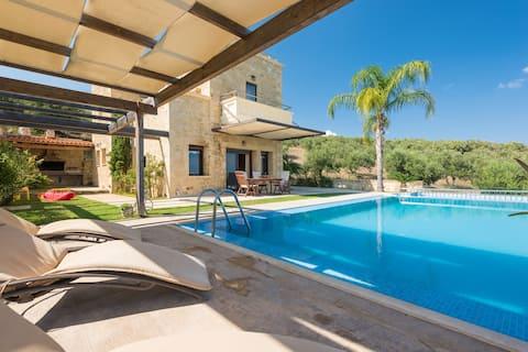 Metochi Villa, pokojná poloha, nádherný výhľad