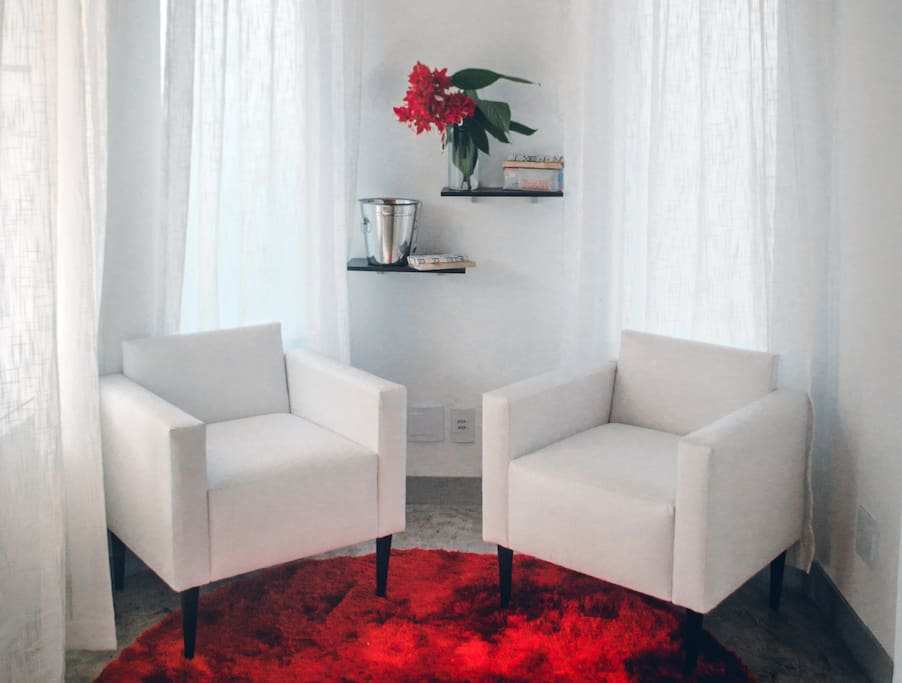 Cupid Suite Sitting Area / Sala de Estar da Suite Cupido