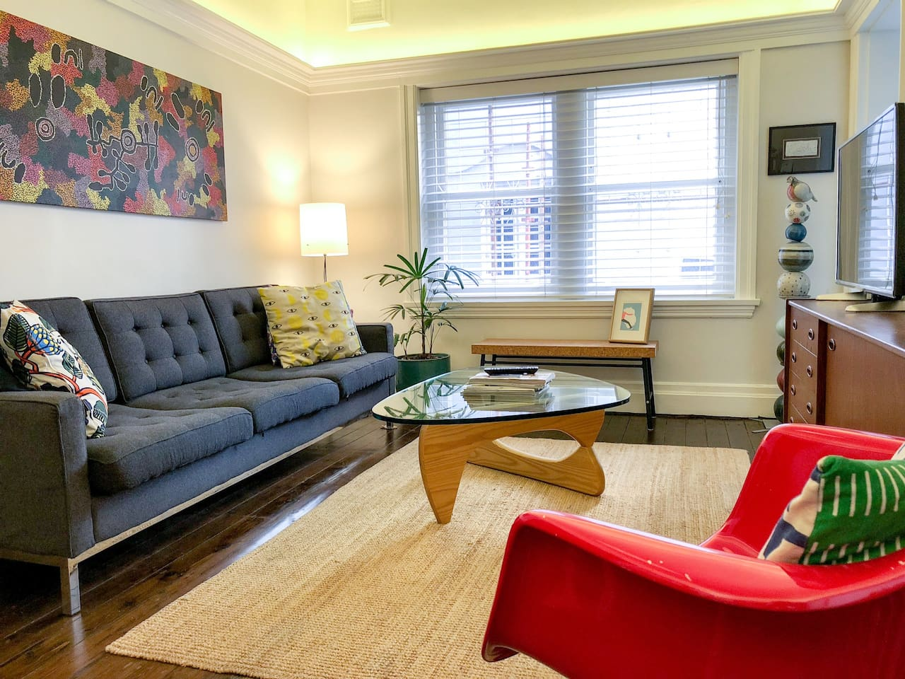 Comfortable living area, perfect for resting after a day exploring the local area and city