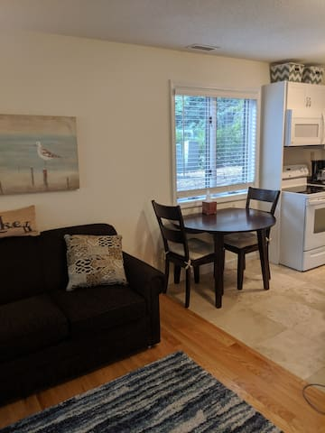 kitchen table and sofa bed