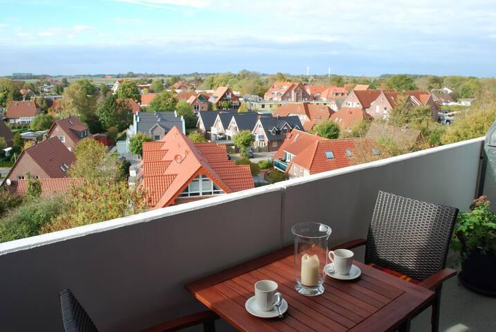 Ferienwohnung Sonnenschein, (Horumersiel-Schillig), Ferienwohnung, 32 qm 1 Schlafzimmer, Balkon mit Panoramablick, max. 2 Personen