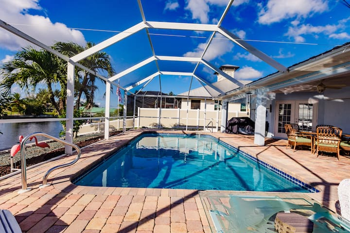 Three Bed Pool Home with Breathtaking Canal Views