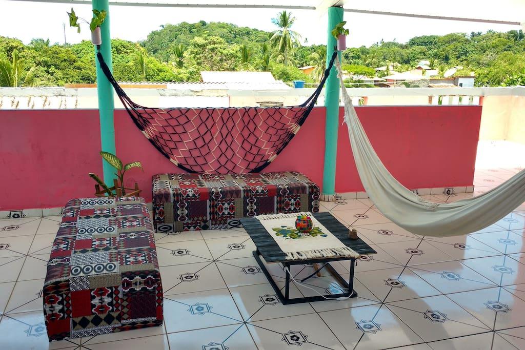 terraza de uso compartido
