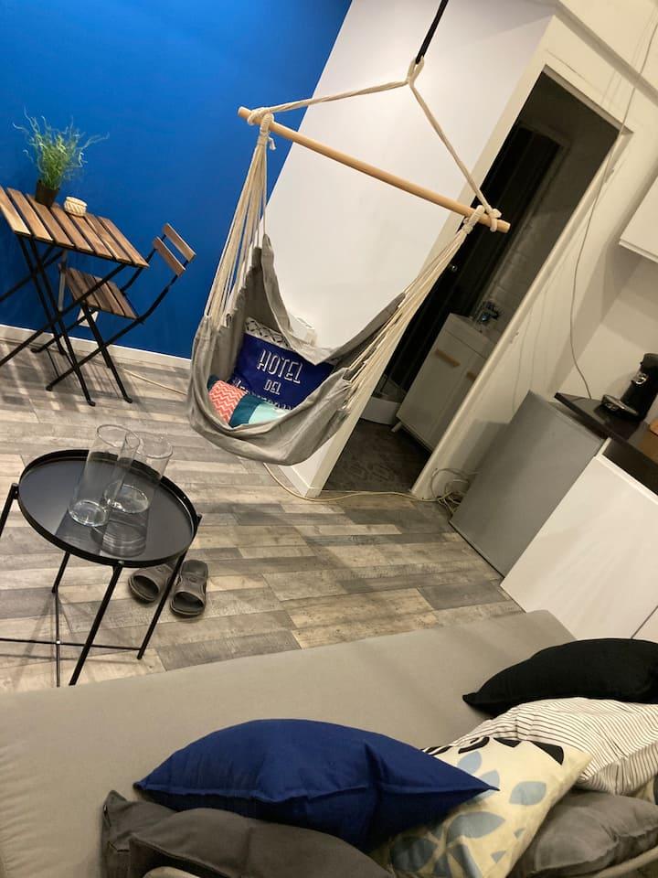 Studio hyper centre lit mezzanine / wifi / netflix