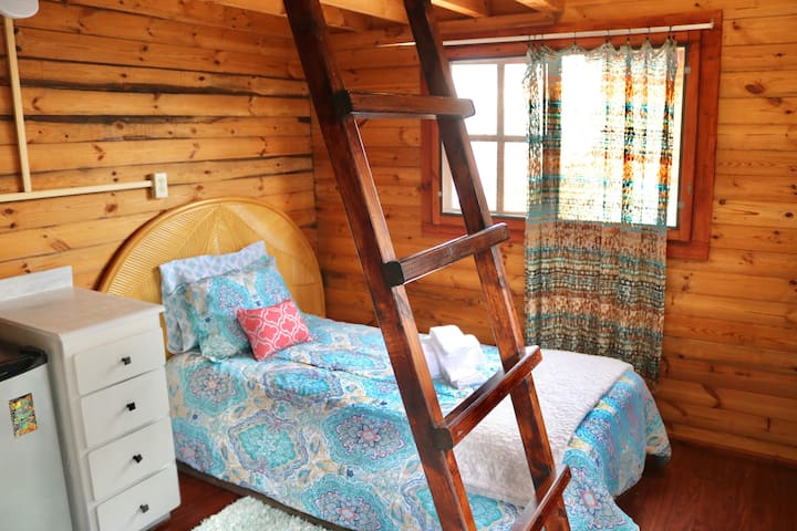 Loft Style Getaway: The Hibiscus Cabin