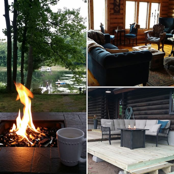 Fire table/Deck/Great Room