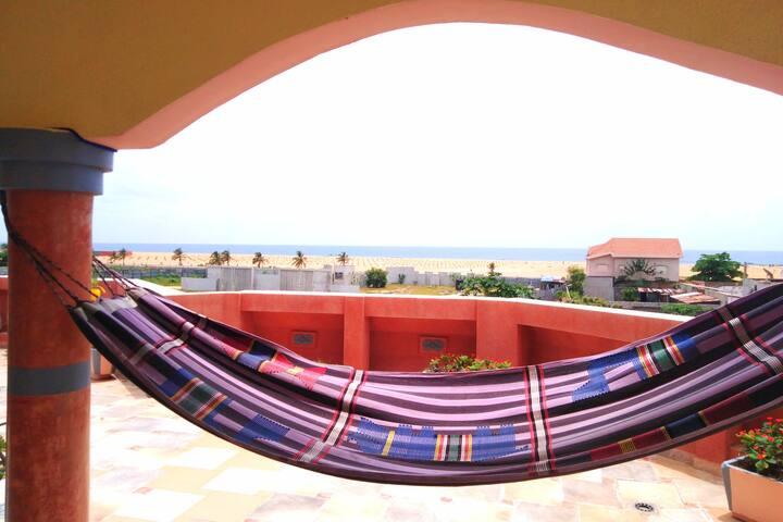 Coin de paradis a cotonou en bord de mer