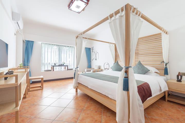 花筑·三亚禅意大酒店|高级园景大床房