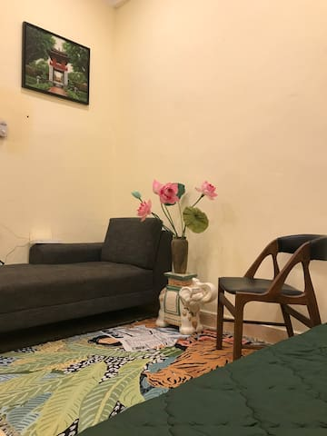 Sofa area for tea time and chating