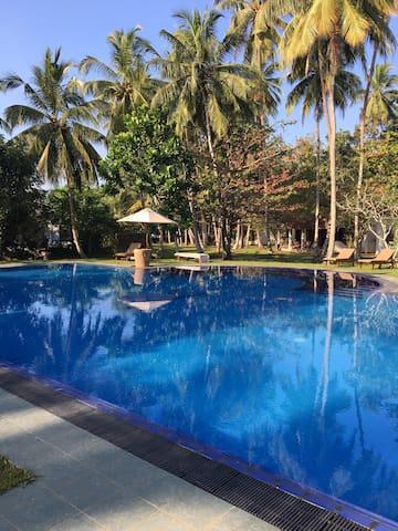 Unawatuna Villa with 1.5 acre garden & 22m pool
