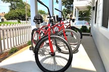 Bikes with helmets and locks are available, ride like a local!