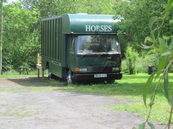 Horsebox Glamping in mid Wales near coast sleeps 2