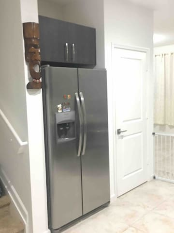 Filtered water system on the fridge