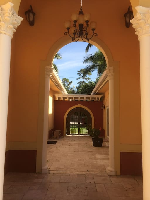 Entrance to Guest house though court yard