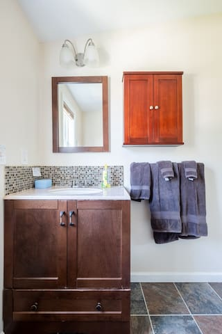 The private bathroom is right next to your room.