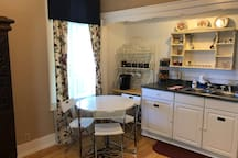 Fold out table and chairs for dining or personal use