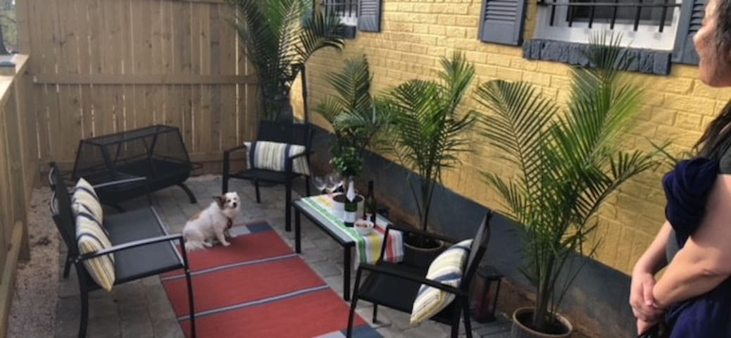 Front patio--come join us for a glass of wine and conversation